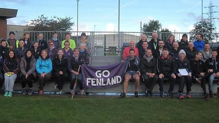 Fenland Running Club members at the Round Norfolk Relays.