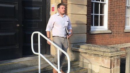 Jamie Cook, pictured here leaving Fenland Hall, says action taken by Fenland District Council to pre