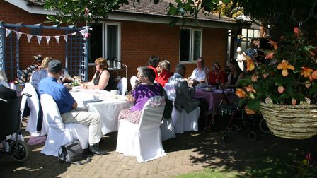 Lyncroft care home in Wisbech garden party