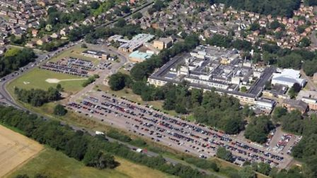 Mike Page's aerial view of Queen Elizabeth Hospital, King's Lynn