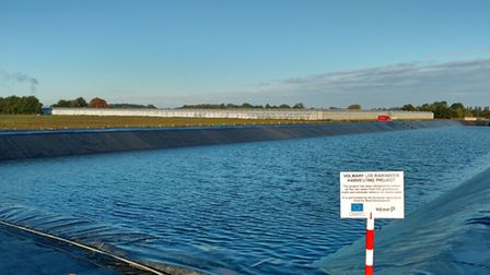 Volmary's new 15,000 cubic metre reservoir in Wisbech St Mary.