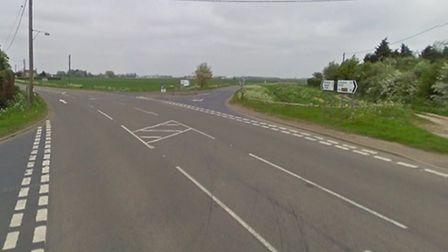 The junction of Silt Lane and the A1101. Picture: Google