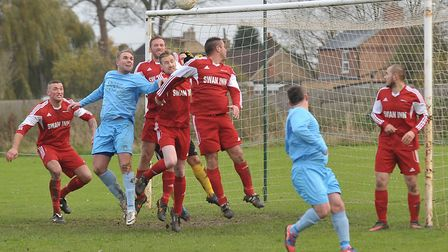FC Parson Drove, pictured in action here in 2013, are back in the Peterborough & District Football L