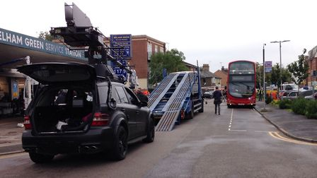 Johnny English 3 filming in Welham Green's Dellsome Lane