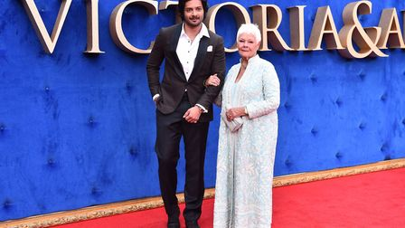 Ali Fazal and Dame Judi Dench arriving at the UK premiere of Victoria & Abdul at the Odeon, Leicest