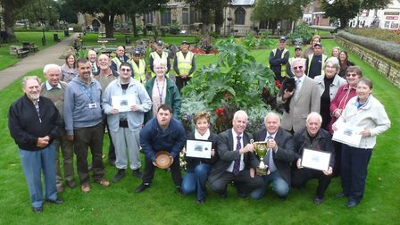 Some of the volunteers who have been involved in helping Wisbech achieve ten Anglia In Bloom golds.