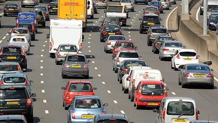 There are currently M25 delays. Picture credit: Andrew Matthews/PA