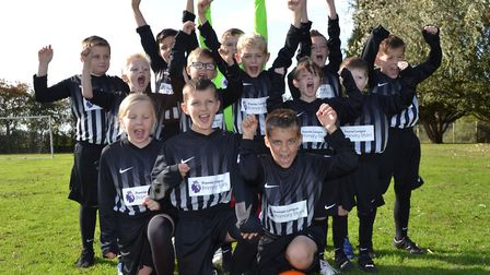 Townley School and Pre-School pupils in their new Premier League Primary Stars kit.
