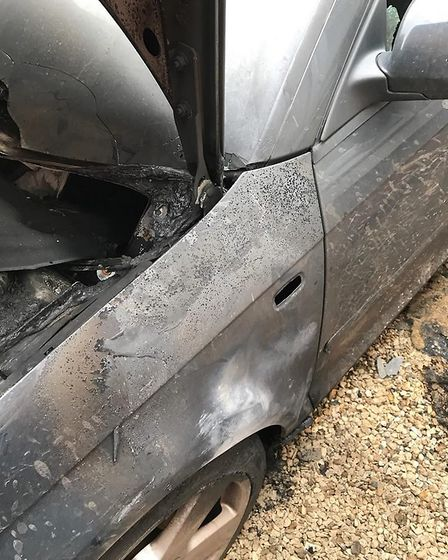 Father offers reward after his son's car is torched outside family home in Wisbech