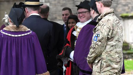 The Wisbech Civic Service took place on Sunday (October 22), hosted by Mayor Steve Tierney. Photo: I