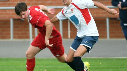 Action from Wisbech Town's 4-3 win over Northampton ON Chenecks. Photo: Ian Carter