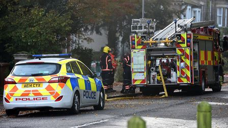 House fire at Townsend Road, Wisbech, overnight on Saturday October 14. PHOTO: ARCHANT.