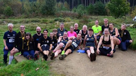 The Three Counties Running Club members who took part in the first round of the Shouldham Cross-Coun