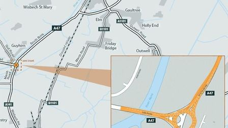 The major improvement spots along the A47: first part of the £300m upgrade starts in the New Year. T