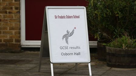 Results day at Sir Frederic Osborn School. Picture: Danny Loo