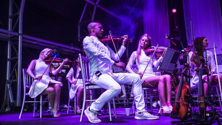 The Urban Soul Orchestra performing at Classic Ibiza 2017