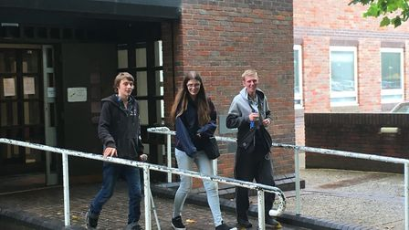 Kane Allen (left) appeared at Norwich Magistrates Court for sentencing. Picture Archant.