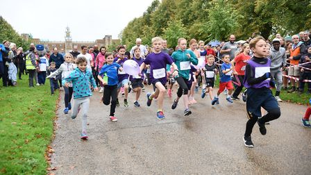 The Junior 1K at the Willow 10K at Hatfield House