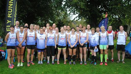 The Fenland Running Club members who took part in the opening round of the Frostbite Friendly League