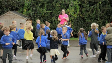 Children at Anthony Curton Primary School in Walpole Saint Peter take part in sports morning. Recept