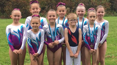 Fenland Flyers youngsters who impressed in their first major competition.