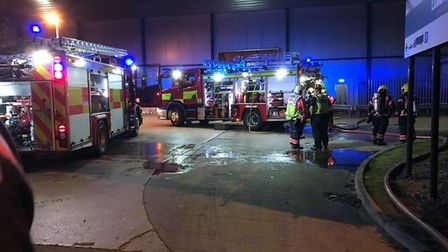 Police officers and a team from Cambridgeshire Fire and Rescue Service were called to a house blaze