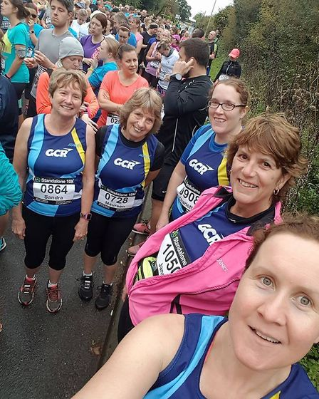 Selfie time for the Garden City Runners at the Standalone 10K.