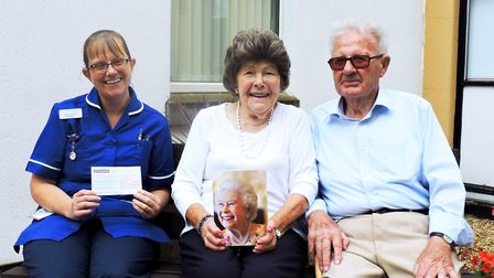 Danny and Dorothy Noone, of Church Road, Emneth, raised 540 for the Queen Elizabeth Hospital during