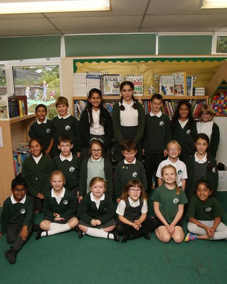 KS1 and KS2 pupils from Springmead school who entered a poem competition and they are being publishe