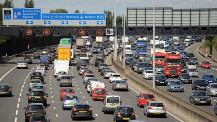 There are currently M25 delays near Junction 23. Picture credit: Andrew Matthews/PA