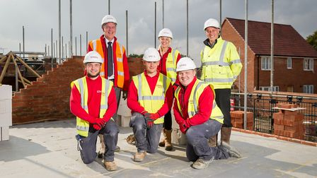 Josh Philp-Hamond joins apprenticeship scheme as a brick layer with Lovell at King's Lynn. Pictured