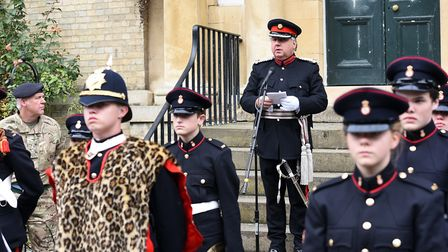 Cambridgeshire Army Cadet Force on their freedom of Wisbech march PHOTO: Ian Carter