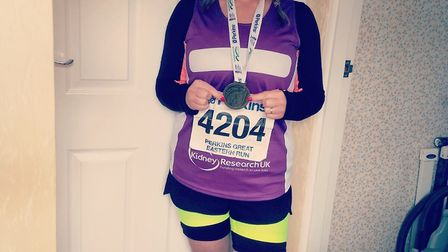 Louise Morris will take on her first London Maratho next April in aid of Kidney Research UK. She is