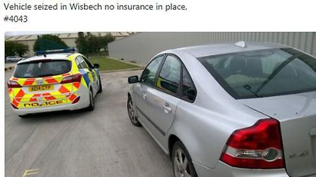 Despite posting photos of seized cars, police in Fenland are still racking up considerable numbers f