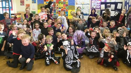 Halloween day at Tilney All Saints Primary School raise hundreds for Teenage Cancer Trust.