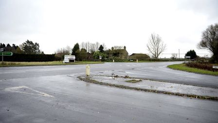 Broad End junction is on a list of road improvement schemes which were developed using £1 million of