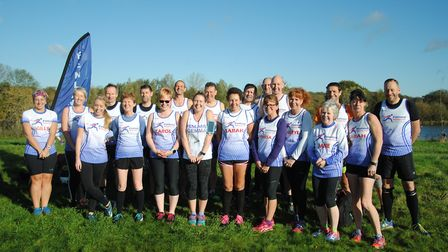 Fenland Running Club members who took part in the second round of the Frostbite Friendly League