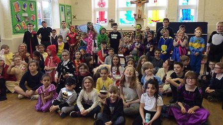 Tilney All Saints Primary School continues to be a 'good' school. Pictured are students celebrating