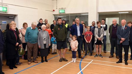 NE Cambs MP Steve Barclay opened the new 150,000 Wisbech St Mary Sports & Community Centre. Photo: I