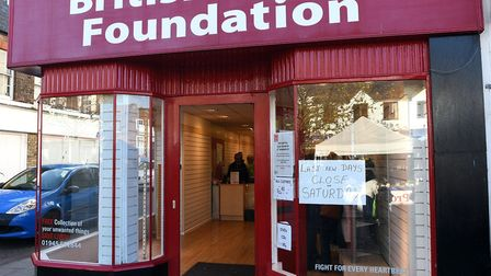 The British Heart Foundation shop in Wisbech shuts after 27 years in business. PHOTO: Ian Carter