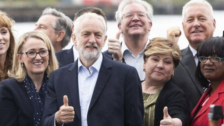 Former Labour leader Jeremy Corbyn and the shadow cabinet