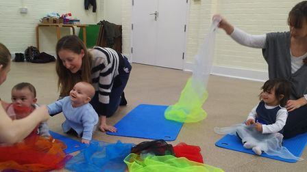 Group activities at Baby College. Photo: Heather Birt