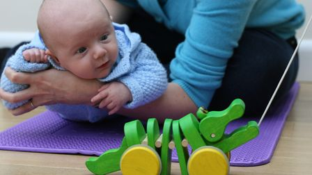 A ten week-old boy at Baby College - already on track for a PhD? Photo: Heather Birt