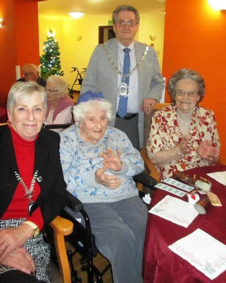 Christmas party for Hickathrift House care home residents and guests