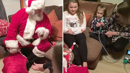 Santa and his Wisbech Lions have paid Gabriella another visit.