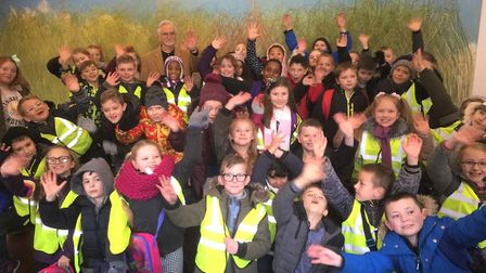 Nearly 50 Peckover Primary students walked down the red carpet at the Wisbech Light cinema for the p