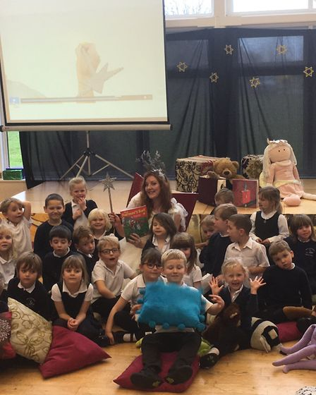 Pupils at Mepal and Witcham Primary School had a visit from 'The Phonic Fairy'. PHOTO: Michelle Larb