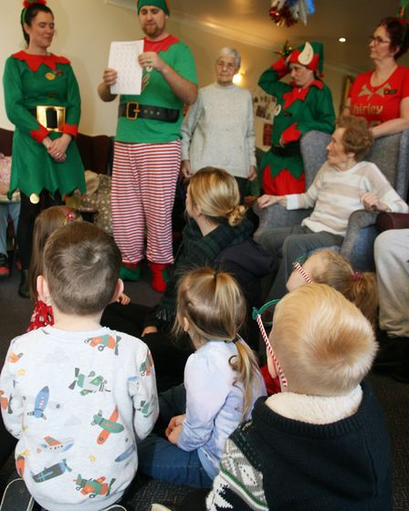 Lyncroft Care Home residents were joined by pupils from the Wisbech Day Nursery for Elf Day.