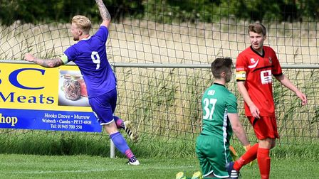 Arran Duke hopes to have captain Nick Davey back for the visit of Holland FC this weekend. Photo: Ia