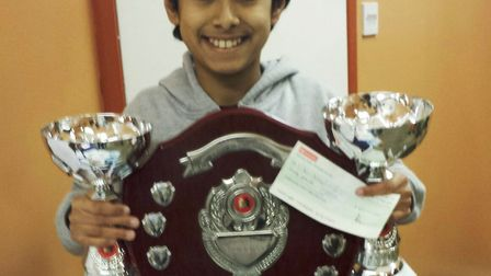 Ieysaa Bin-Suhayl, from Marshland St James, has been crowned Cambridgeshire's youngest ever county c